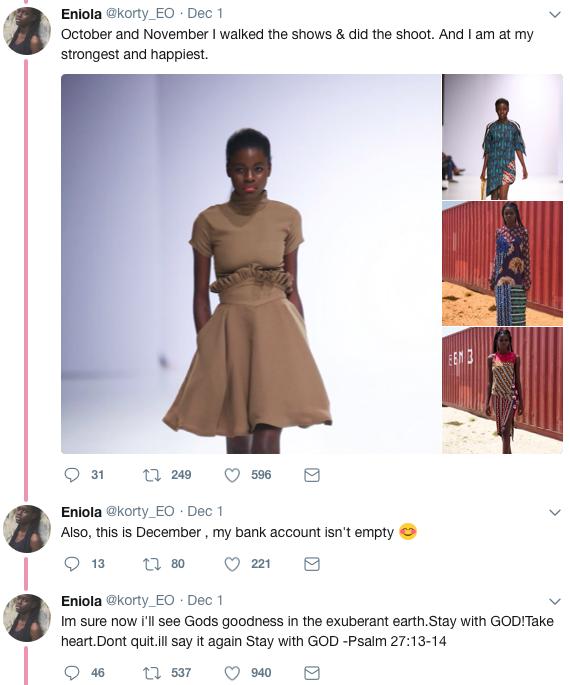 Nigerian Model_twitter thread_fashion week