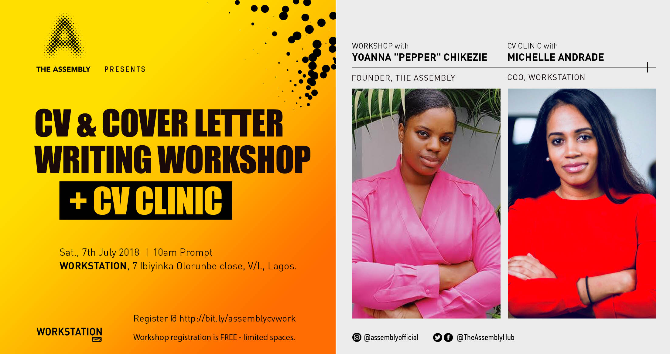 CV and Cover Letter Workshop_The_Assembly